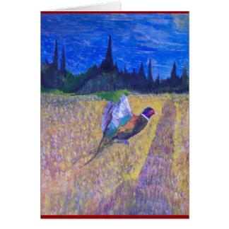 Gallo en The Field Tarjeta De Felicitación