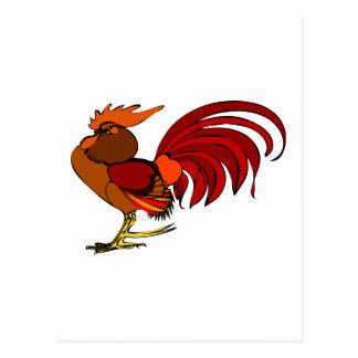 Gallo estilizado del dibujo animado postal