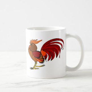 Gallo estilizado del dibujo animado taza de café