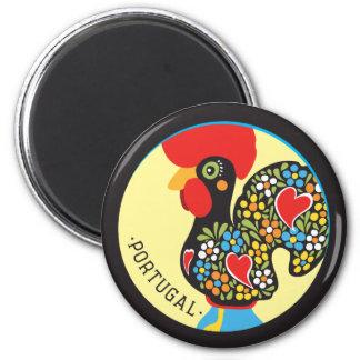 Gallo famoso de Barcelos Nr 06 Imán Redondo 5 Cm