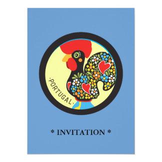 "Gallo famoso de Barcelos Nr 06 Invitación 5.5"" X 7.5"""