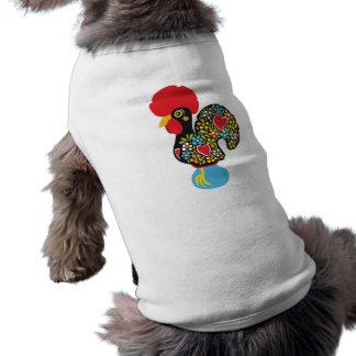 Gallo famoso de Barcelos Nr 06 Playera Sin Mangas Para Perro