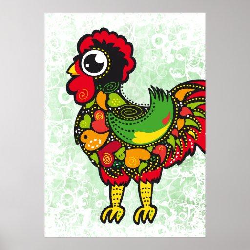 Gallo famoso de Barcelos Nr. 4 Poster