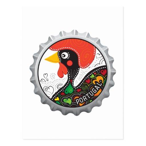 Gallo famoso de Portugal Nr 02 Tarjeta Postal