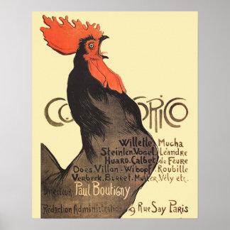Gallo francés Cocorico por el poster del arte de S