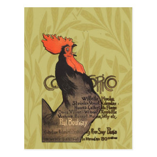 Gallo francés Cocorico por el poster del arte de S Postales