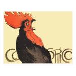 Gallo francés Cocorico por el poster del arte de S Postal
