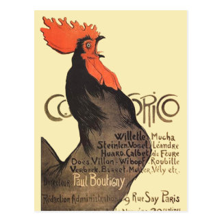 Gallo francés Cocorico por el poster del arte de S Tarjeta Postal