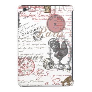 Gallo francés de París de la escritura del vintage Carcasa Para iPad Mini Retina