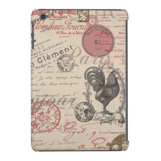 Gallo francés de París de la escritura del vintage Funda Para iPad Mini