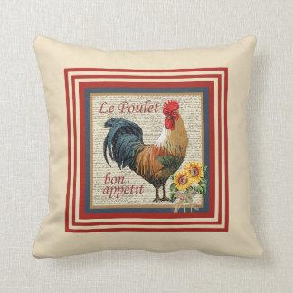 Gallo francés del país almohada
