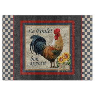 Gallo francés del país tablas para cortar