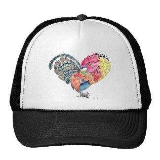 Gallo Heartimal del amor de Kauai Gorras De Camionero