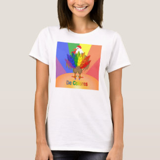 Gallo hermoso con De Colores Playera