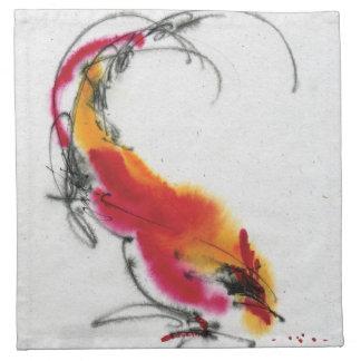Gallo inusual Caligrafía y watercolor Servilleta De Papel