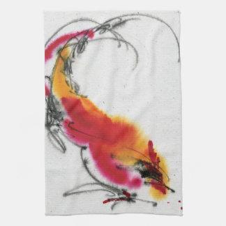 Gallo inusual. Caligrafía y watercolor. Toalla De Mano