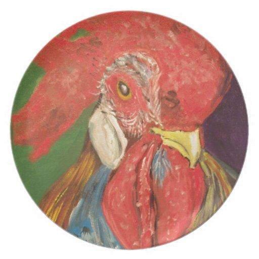 gallo plato de comida