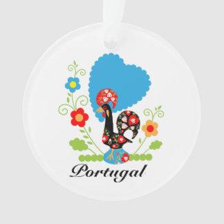 Gallo portugués de la suerte
