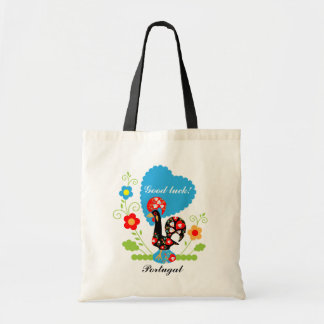 Gallo portugués de la suerte bolsas de mano