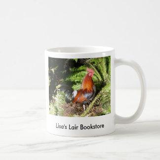 Gallo - promo de la librería de las aves de selva taza clásica