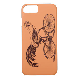 Gallo que monta una bicicleta funda iPhone 7