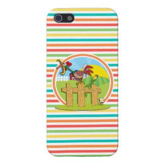 Gallo; Rayas brillantes del arco iris iPhone 5 Cobertura