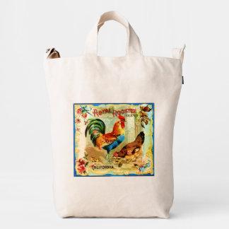 Gallo real de California del vintage Bolsa De Lona Duck