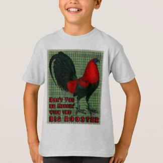 Gallo rojo grande playera