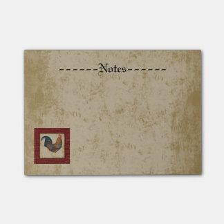 Gallo rojo notas post-it®