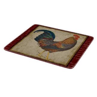 Gallo rojo tabla para cortar