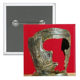 Gallo-Roman gladiator's mask Pinback Button