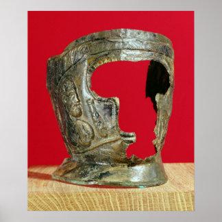 Gallo-Roman gladiator's mask Poster