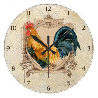 Gallo rústico del granero del país francés del est relojes