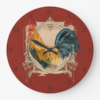 Gallo rústico del granero del país francés del est reloj