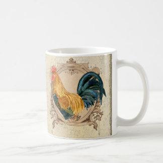 Gallo rústico del granero del país francés del taza