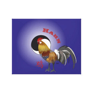 Gallo - Sternzeichen lienzo de cuña Chino Lienzo Envuelto Para Galerias