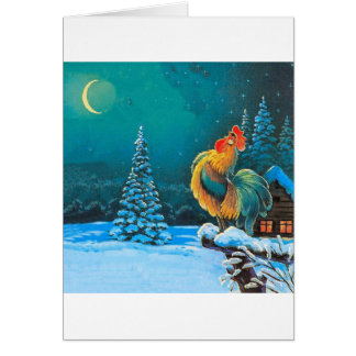 gallo tarjeta de felicitación