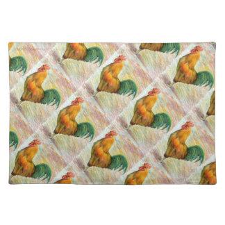 Gallo tejado que dibuja Placemat Manteles