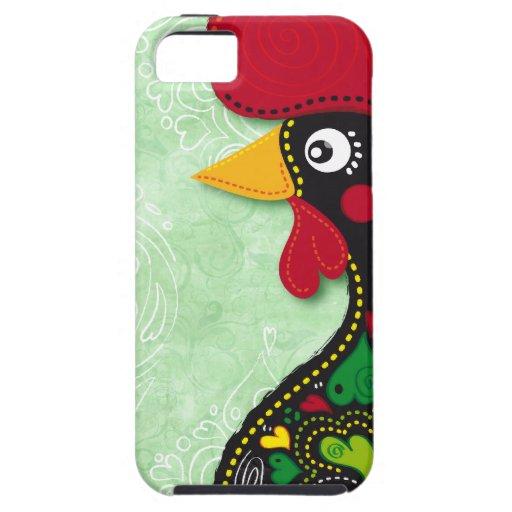 Gallo típico de Barcelos iPhone 5 Protectores