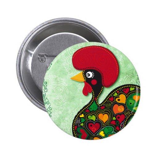 Gallo típico de Barcelos Pin Redondo 5 Cm