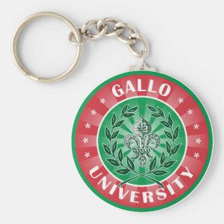 Gallo University Italian Keychain