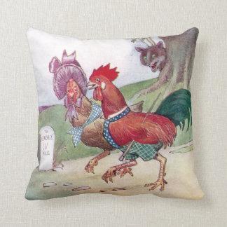 Gallo y gallina en manera a Hendale Cojin
