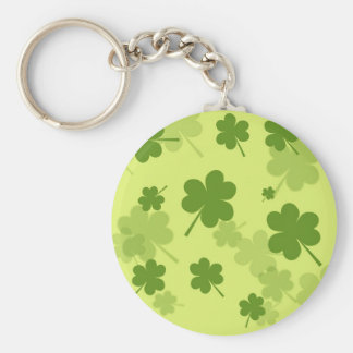 GALLONS GREEN CLOVERS PATTERN BACKGROUNDS LAYERED BASIC ROUND BUTTON KEYCHAIN