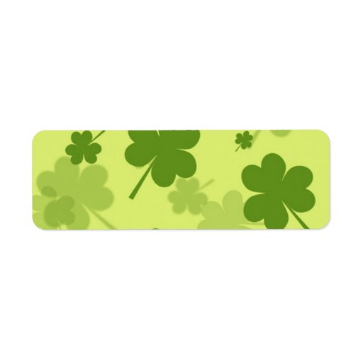 GALLONS GREEN CLOVERS PATTERN BACKGROUNDS LAYERED RETURN ADDRESS LABELS