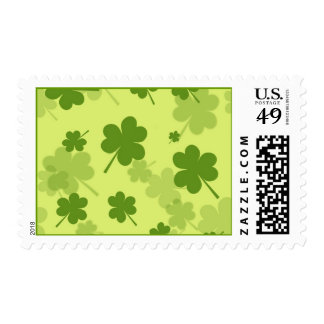 GALLONS GREEN CLOVERS PATTERN BACKGROUNDS LAYERED POSTAGE STAMP