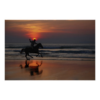 gallop at sunset poster