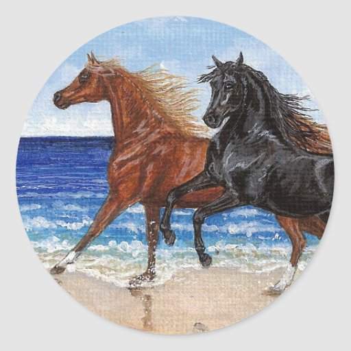 Gallop beach Arabian horse sticker
