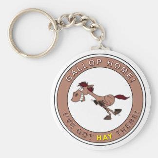 Gallop Home! Basic Round Button Keychain