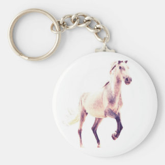 Galloping Andalusia, horse portrait Key Chain