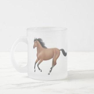 Galloping Bay Horse Frosted Mug